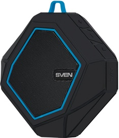 Bezvadu skaļrunis Sven PS-77 Black/Blue, 5 W