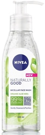 Очищающее средство для лица Nivea Naturally Good, 140 мл