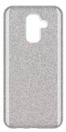 Wozinsky Glitter Shining Back Case For Samsung Galaxy A6 Plus Silver
