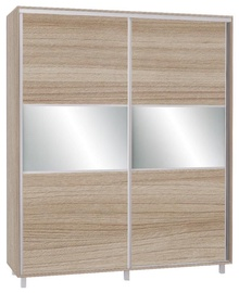 Skapis Bodzio SZP200W Latte, 200x60x240 cm, with mirror