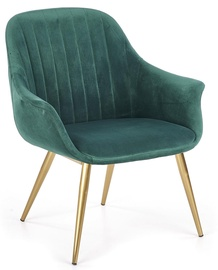 Atzveltnes krēsls Halmar Elegance I Dark Green, 72x60x79 cm