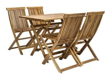 Āra mēbeļu komplekts Home4you Finlay K13180, brūns, 4 sēdvietas
