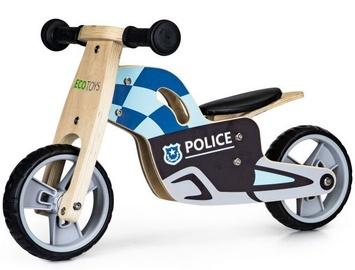 Балансирующий велосипед EcoToys Police, синий