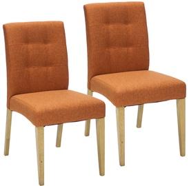 Ēdamistabas krēsls Home4you Enrich Orange, 2 gab.