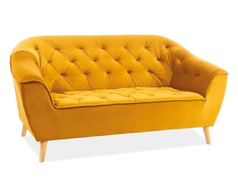 Dīvāns Signal Meble Galaxy Galaxy 2 Velvet Sofa Curry, 90 x 167 x 83 cm