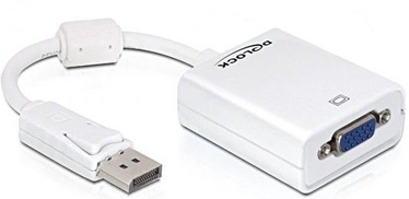 Delock Adapter DisplayPort 1.2 to VGA Female Passive White