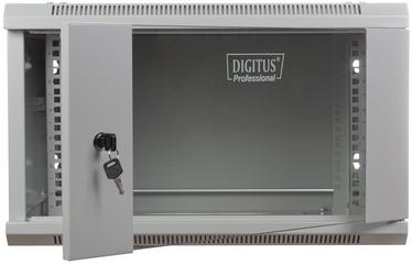 "Digitus Wallmount Cabinet 19"" 6U/600mm Glass Gray Unmounted"