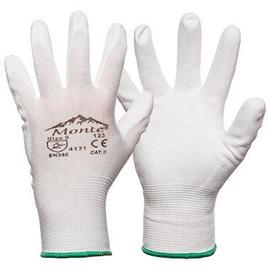 Darba cimdi Monte Nylon Knitted Gloves With PU White 10