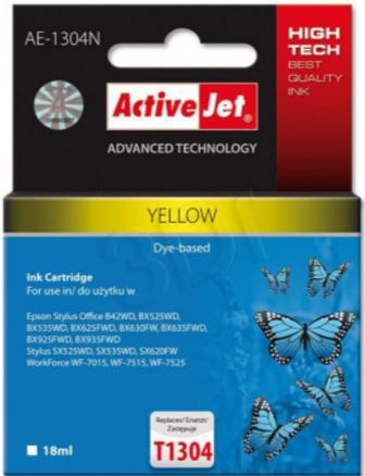 ActiveJet AE-1304N Cartridge 18ml Yellow