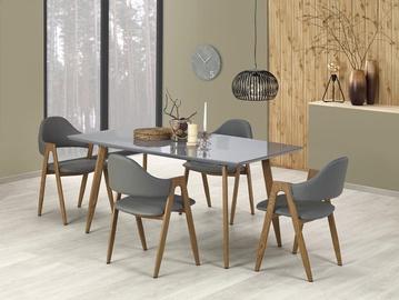 Обеденный стол Halmar Ruten, серый/дубовый, 1600 - 2000x900x760мм