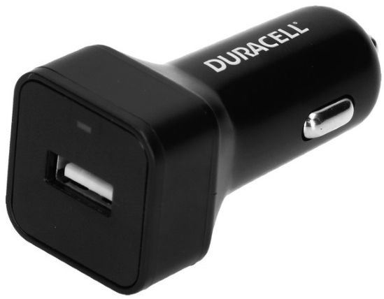 Duracell Universal Single USB Plug 2.4A Car Charger Black