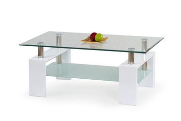 Kafijas galdiņš Halmar Diana H Lacquered White, 1100x600x550 mm