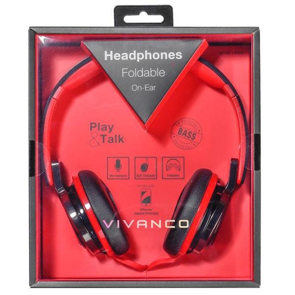Austiņas Vivanco SR770 HiFi Red/Black