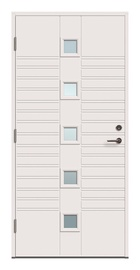 Ārējo durvju vērtne Viljandi Kaia 5x1R, balta, 208.8 cm x 89 cm x 6.2 cm