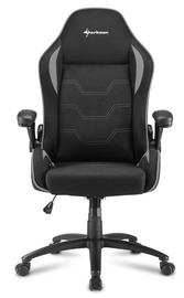 Игровое кресло Sharkoon Elbrus 1 Black Grey