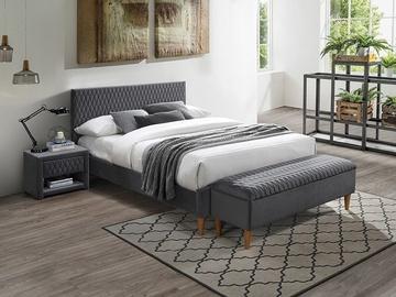 Кровать Signal Meble Modern Azurro, серый, 206x165 см, с решеткой