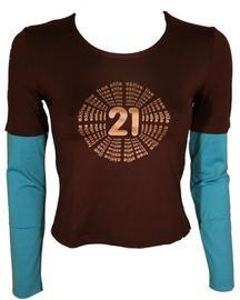 Bars Womens Long Sleeve Shirt Brown/Blue 138 L