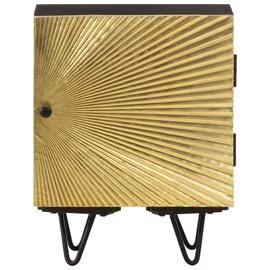 Naktsgaldiņš VLX Solid Mango Wood 322680, zelta/melna, 30x40x50 cm