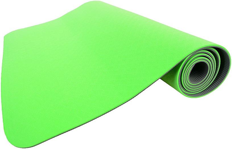 SMJ Yoga Mat 172x61x0.4cm Green/Grey