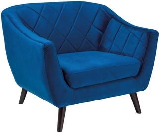 Atzveltnes krēsls Signal Meble Molly Velvet 1 Blue, 83x78x105 cm