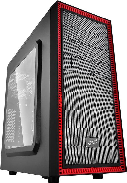 Deepcool Tesseract Middle-Tower ATX w/Side Window Black/Red DP-ATX-TSRBKRD