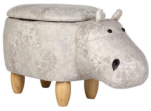 Pufs Signal Meble Hippopotamus Hubert Grey, 68x30x36 cm