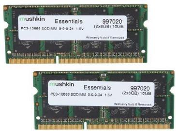Operatīvā atmiņa (RAM) Mushkin Essentials 996644 DDR3 (SO-DIMM) 8 GB CL7 1066 MHz