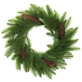 DecoKing Lux Christmas Wreath 50cm Pine Cone