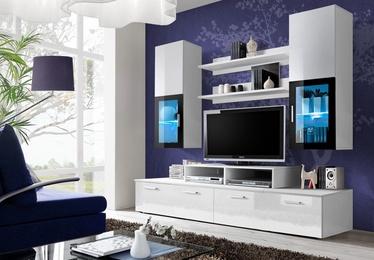 Dzīvojamās istabas mēbeļu komplekts ASM Mini LED White