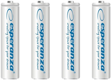 Esperanza Rechargeable Batteries 4x AAA 1000mAh White