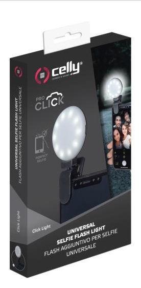 Celly Clicklight Selfie Flashlight Black