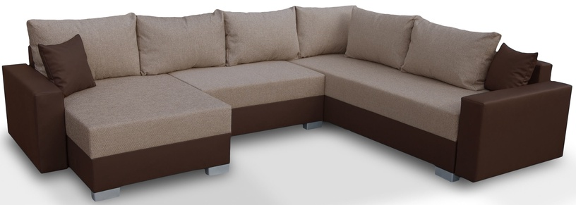 Stūra dīvāns Platan Gustaw 05 Brown, 315 x 135 x 87 cm