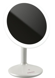 Kosmētiskais spogulis Homedics Touch & Glow Beauty Dimmable MIR-SR820 White, ar gaismu, stāvošs, 19.3x27.4 cm