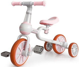 Трехколесный велосипед EcoToys 4in1 Race, белый/розовый