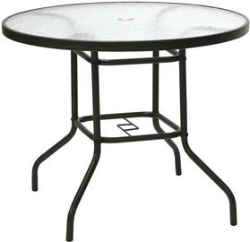 Садовый стол Home4you Dublin 11872, прозрачный/коричневый, 92 x 92 x 71 см (поврежденная упаковка)