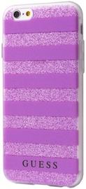 Guess Stripes 3D Effect Back Case For Apple iPhone 6/6s Transparent/Purple