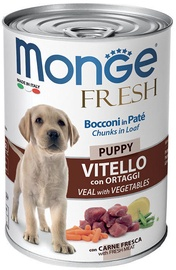 Monge Fresh Chunks Puppy With Veal & Vegetables 400g