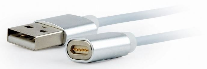 Gembird Magnetic USB Charging Cable Silver 1m