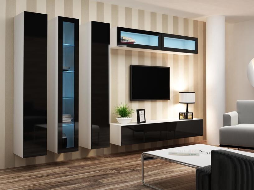 Cama Meble Vigo 90 Cabinet Glass White/Black Gloss