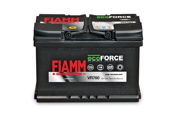 Akumulators Fiamm Ecoforce, 70 Ah, 760 A, 12 V