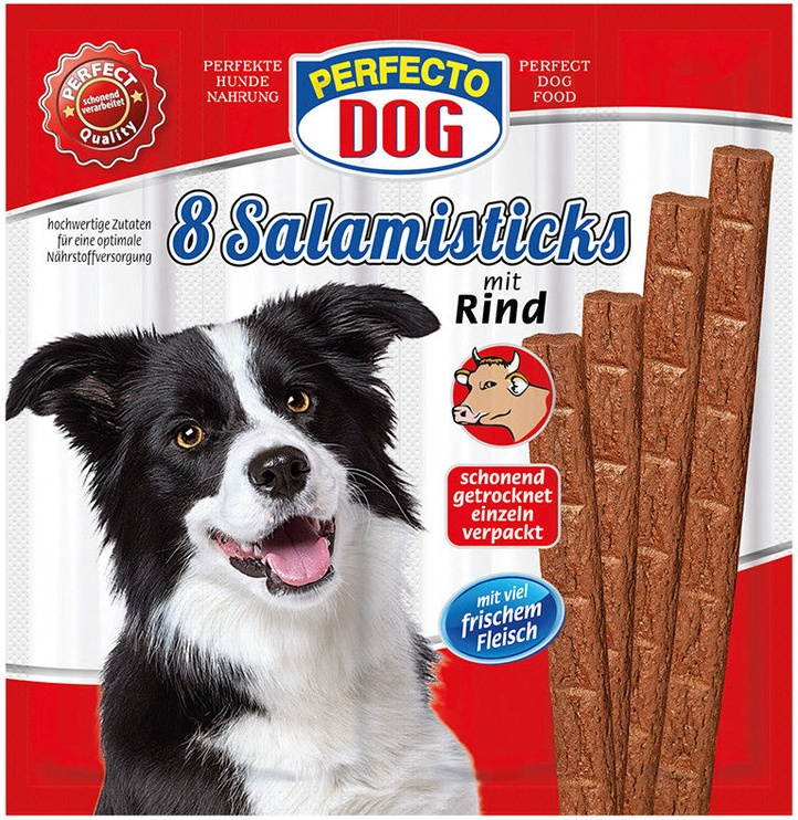 Perfecto Dog Salami Sticks With Beef 88g