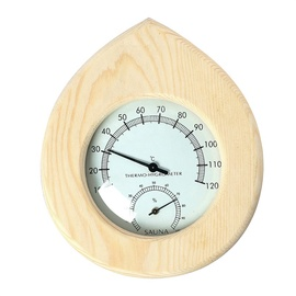 Flammifera AP-018BW Sauna Thermometer with Hygrometer