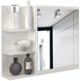 Top E Shop Cabinet Lumo With Mirror Left White