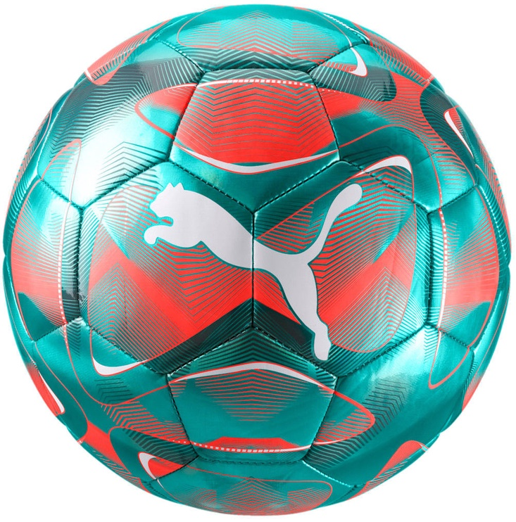 Puma Future Flash Soccer Ball 083262 02 Turquoise/Red Size 5