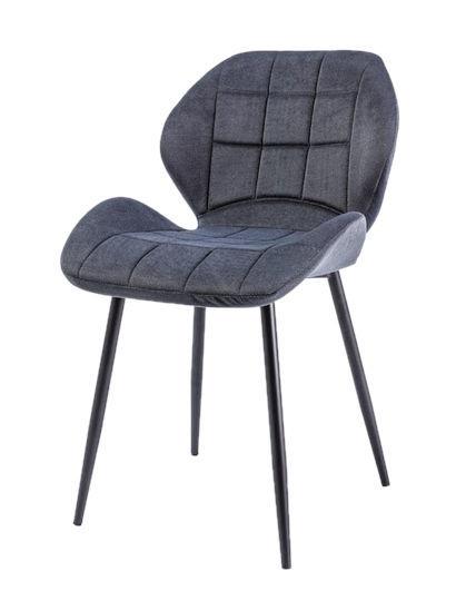 Ēdamistabas krēsls Signal Meble Hals Black/Graphite, 1 gab.