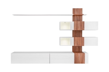 ASM Quill Living Room Wall Unit Set White/Sterling Oak