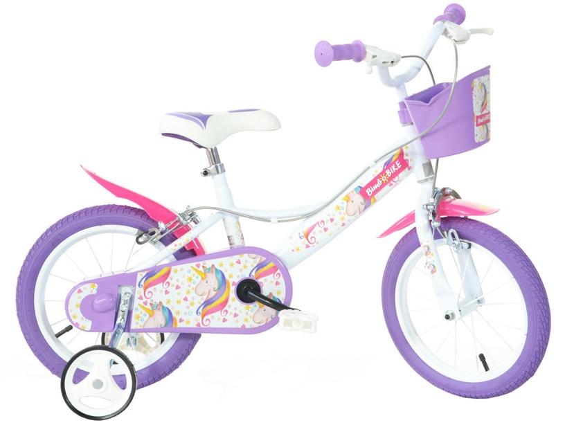 "Bērnu velosipēds Bimbo Bike 77324 16"" White Violet"