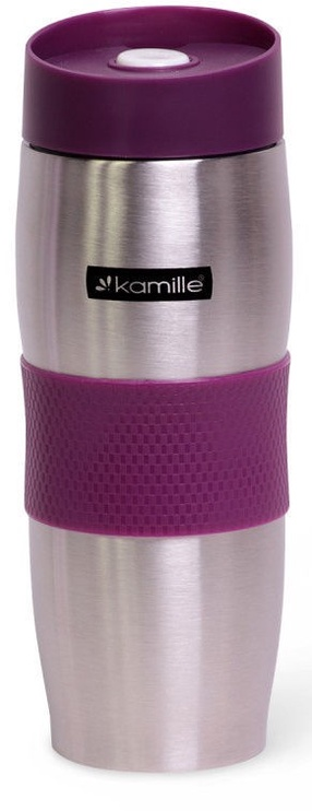 Kamille Vacuum Mug 380ml Purple KM2053