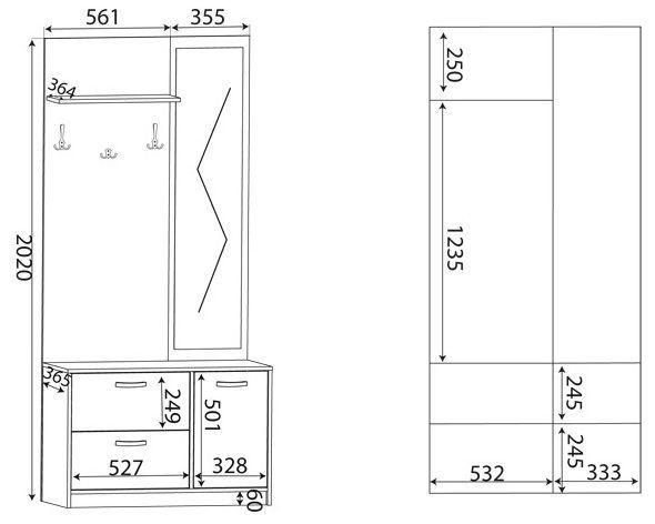 ML Meble Hallway Unit 92-01 Sonoma Oak