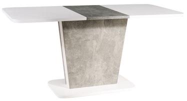 Signal Meble Calipso Extendable Table White Matt/Grey